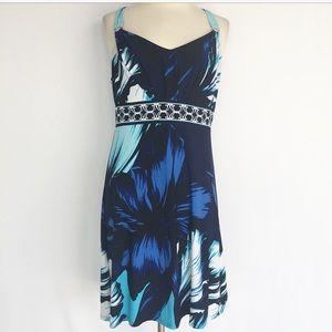 White House Black Market Blue floral dress